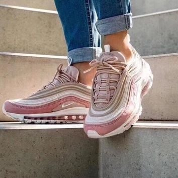 Nike Air Max 97 OG Retro Pink Running Shoes 312834-200