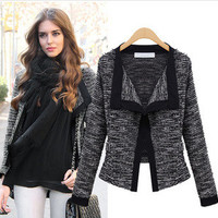 Casual Knit Long Sleeve Open Front Jacket