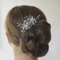 Flower Hair Pins, Wedding Hairpin, Bridal Flower Headpiece, Pearl Hairpiece, Wedding Pearl Hair Pins, Bridal Hair Pins, Hair Accessory