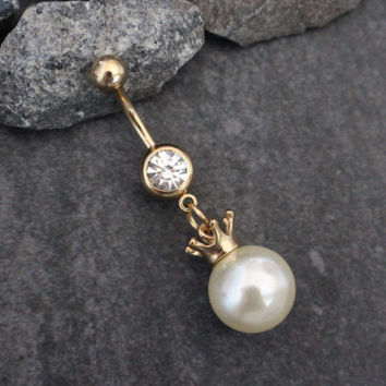 Pearl Belly Button Ring