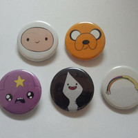 Adventure Time 5 Pk  1in Buttons