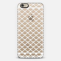White Mermaid Scales Transparent iPhone 6 case by Organic Saturation | Casetify