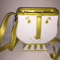 Disney Parks Beauty and the Beast Chip Crossbody Bag New with Tags