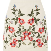 PETITE Ivy Embroidered Skirt | Topshop