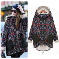 Plus Size Cotton Winter Coat Jacket [9272984580]