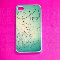 Forever Young, infinity iPhone 4 Case