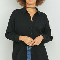 BDG Slouchy Textured Button-Down Shirt - Urban Outfitters