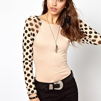 One Teaspoon Rose of Heart Polka Body Suit at asos.com