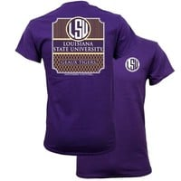 Southern Couture Preppy LSU Tigers Louisiana State University  T-Shirt