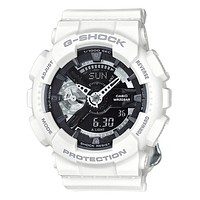 Casio Womens G-Shock S Series - White Case & Strap - Black Dial - 200m