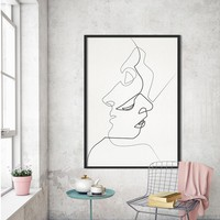 HDARTISAN Wall Picture Canvas Art Painting Poster and Print Figure Lines Home Decor For Living Room No Frame