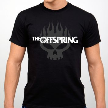 The Offspring Rock Band T-shirt Black New O Neck T-Shirts Male Low Price Steampunk 100 % Cotton T Shirt for Boy Top Tee