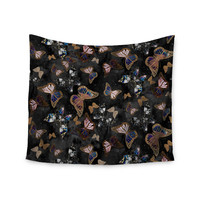 """Nikki Strange """"Galactic Butterfly"""" Black Brown Wall Tapestry"""