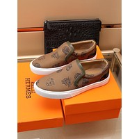 HERMES 2021 Men Fashion Boots fashionable Casual leather Breathable Sneakers Running Shoes07290CC