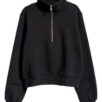 Sweatshirt with Zip - from H&M
