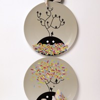 Porcelain plate SPRING AND AUTUMN WISHES Surface 02 Collection by Domestic | design Rolito