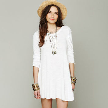 White Long Sleeve Dress
