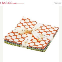 "Sale Fabric, Forever by Amy Butler, 5""X5"" Charm Pack, 30 pieces, FreeSpirit Fabrics"