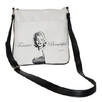 LICENSED MARILYN MONROE FOREVER BEAUTIFUL MESSENGER BAG