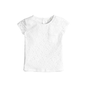 Cool Summer Double-layered Lace Tops Children T-shirts [4919893380]