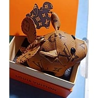 Louis Vuitton LV Cute Pig Bag Charm And Key Holder Brown