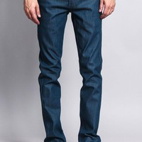 Men's Skinny Fit Raw Denim Jeans (Dodgers Blue)