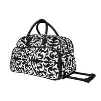 Damask Rolling Duffel Bag