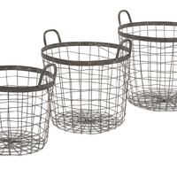 Metro Wire Baskets - Set of 3