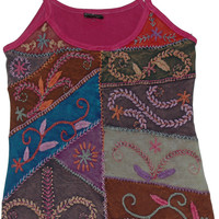 Claret Embroidered Summer Top