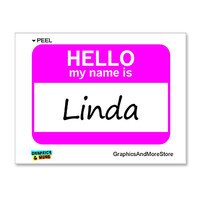 Linda Hello My Name Is Sticker
