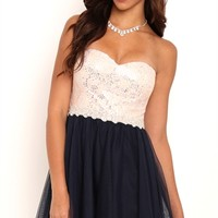 Dress with Sequin Lace Bodice
