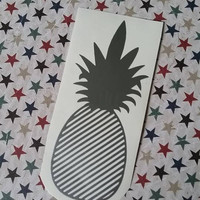 Striped Pineapple Decal | Decal | Car Decal | Preppy Decal | Monogram | Yeti Decal | Vinyl Decal | Cup Decal | Gift | Pineapple Decal