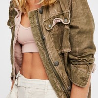 Free People Double Cloth Jacket