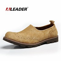Men Cow Leather Shoes Casual New Fashion Shoes Men Slip On Oxford Classic Dress Shoes For Men sapatos