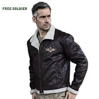 FREE SOLDIER outdoor sports tactical military uniform jacket men bomber pilot jacket for camping