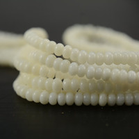 ivory coral,2x4mm abacus beads,spacer beads,jewelry making beads