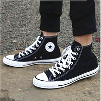 Converse Black All Star Sneakers High-Top Leisure shoes Adult Leisure shoes