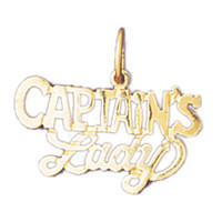 14K GOLD SAYING CHARM - CAPTAIN'S LADY #10895
