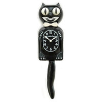Small Kit-Cat Clock in Black with Wagging Tail