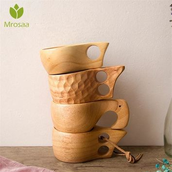 Chinese Portable Wood Coffee Mug