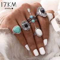 Bohemian Midi Ring Set Vintage Steampunk Anillos Knuckle Rings For Women Boho Jewelry