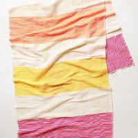 Sunshine Stripe Scarf by Anthropologie Pink One Size Scarves
