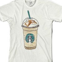 Coffee Illustration-Unisex White T-Shirt