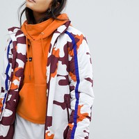 Ellesse High Neck Coat In Camo at asos.com