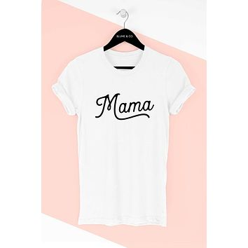 Don't Mess With Mama Graphic Tee - Off White