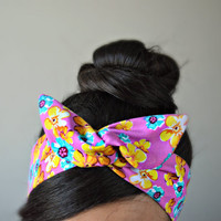 Floral dolly bow head bands, Flower headband
