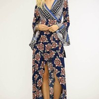 That's a Wrap Fall Floral Maxi Dress FINAL SALE!
