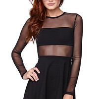 Kendall and Kylie Fabric Mix Skater Dress at PacSun.com