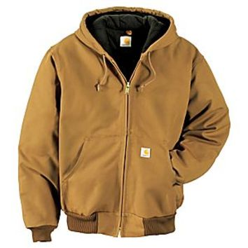NEW Carhartt Quilted-Flannel-Lined Duck Active Jacket for Men