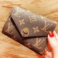 LV Louis Vuitton New fashion monogram print leather wallet women purse clutch bag